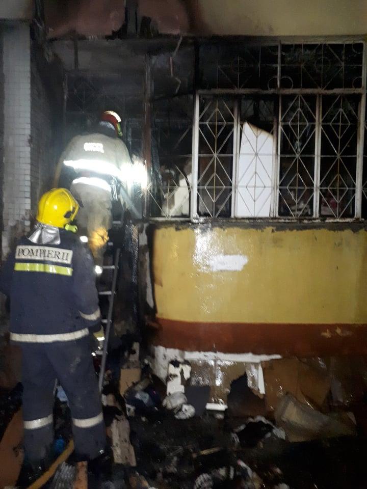 Пожар в Кишиневе: огонь вспыхнул в квартире девятиэтажки