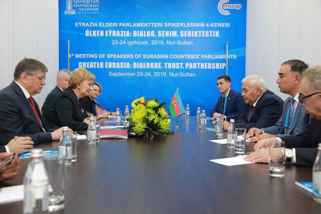 Гречаный провела встречу с председателем Национального собрания Азербайджанской Республики (ФОТО)