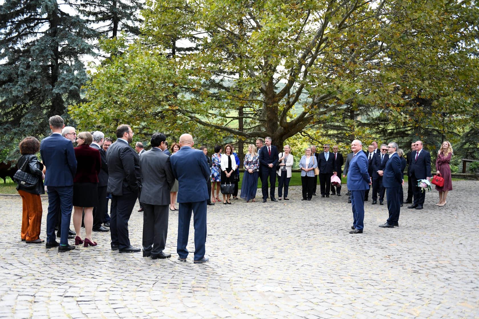 Президент провел неформальную встречу с аккредитованными в Молдове послами (ФОТО, ВИДЕО)