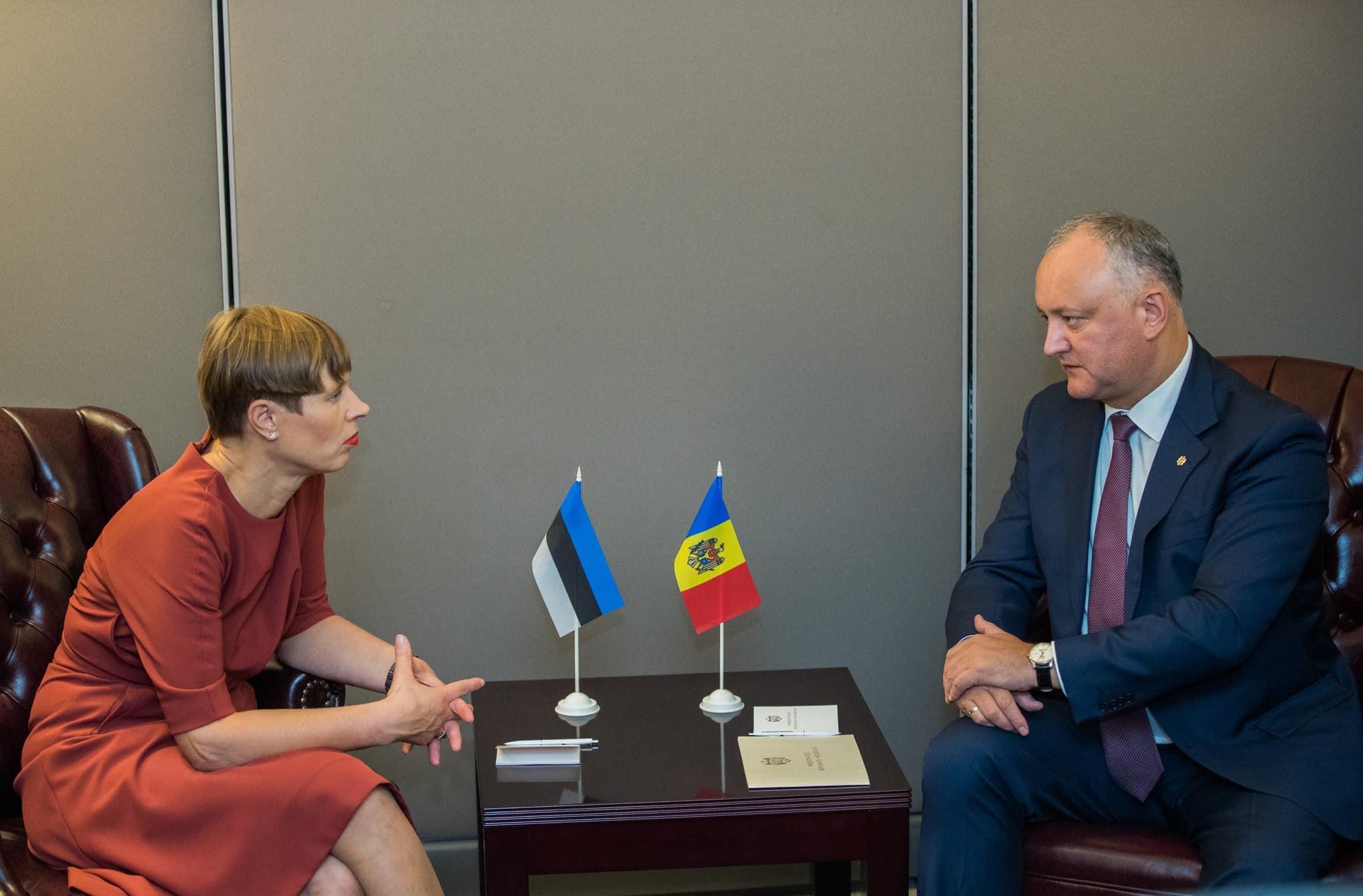 Игорь Додон провел встречу с президентом Эстонии (ФОТО, ВИДЕО)