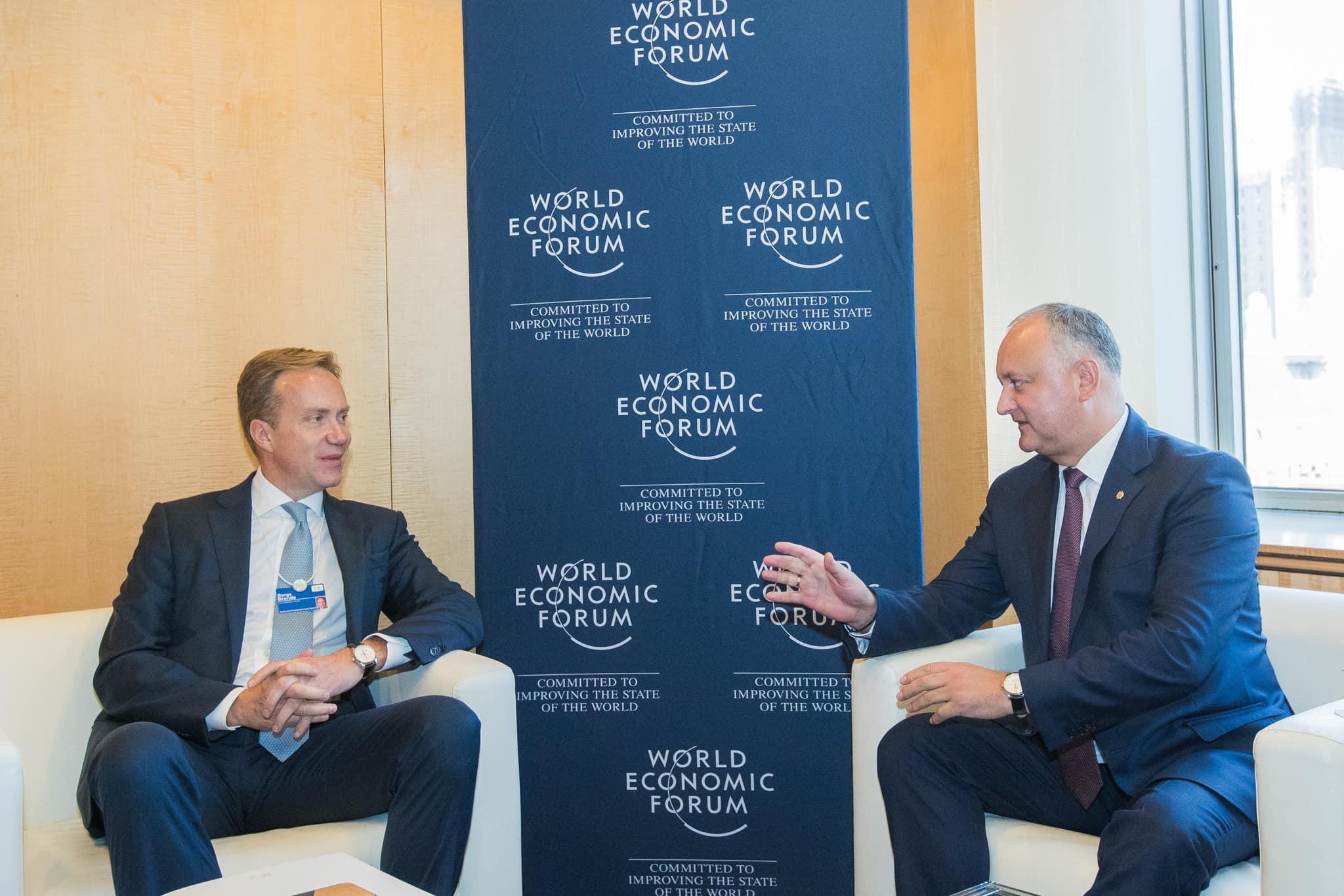 Додон: Молдова заинтересована в сотрудничестве с Всемирным экономическим форумом (ФОТО, ВИДЕО)