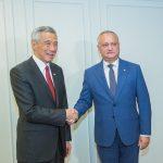 Игорь Додон встретился с премьер-министром Сингапура (ФОТО, ВИДЕО)