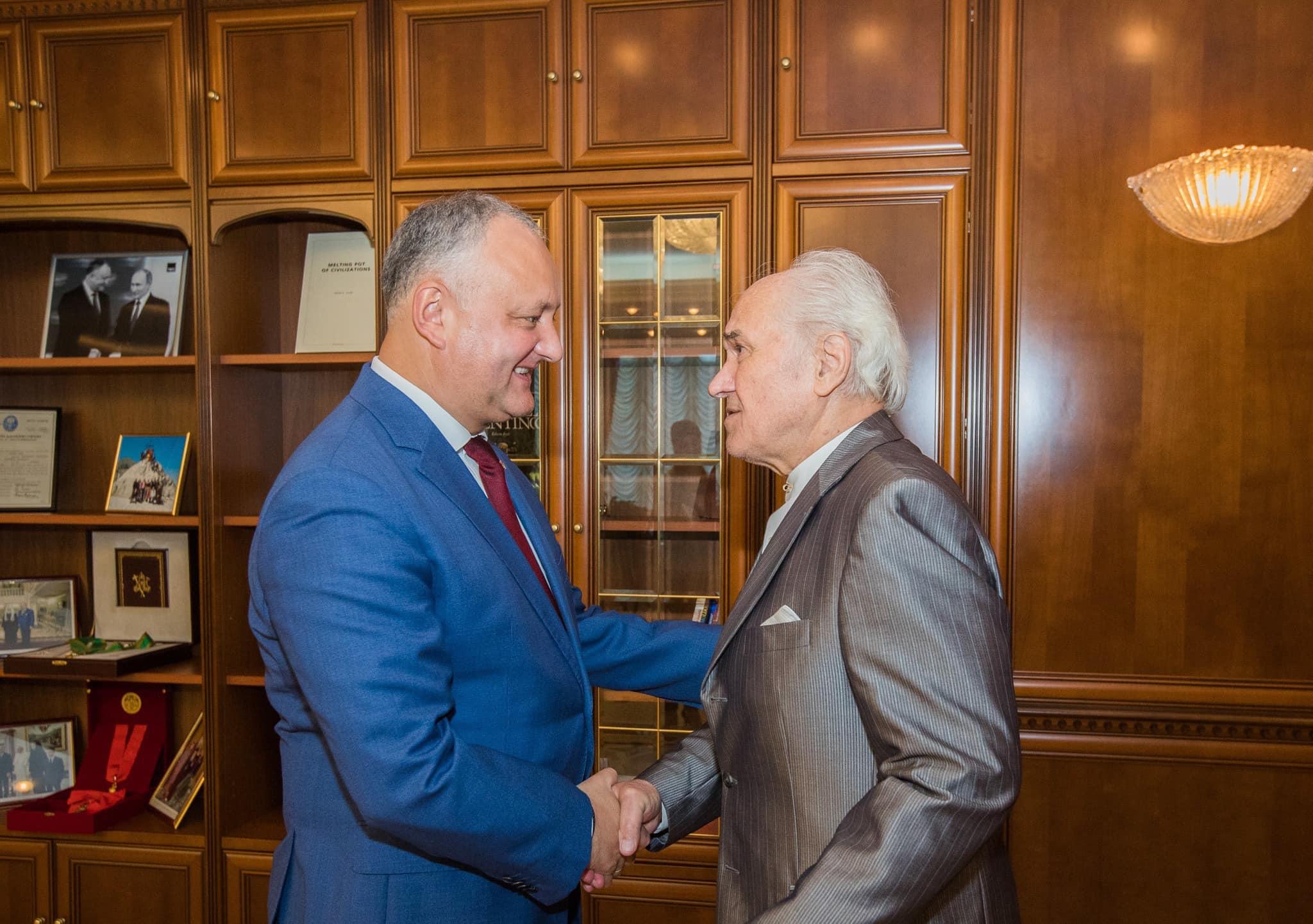 Встреча с маэстро: Игорь Додон пообщался с Евгением Догой (ФОТО, ВИДЕО)