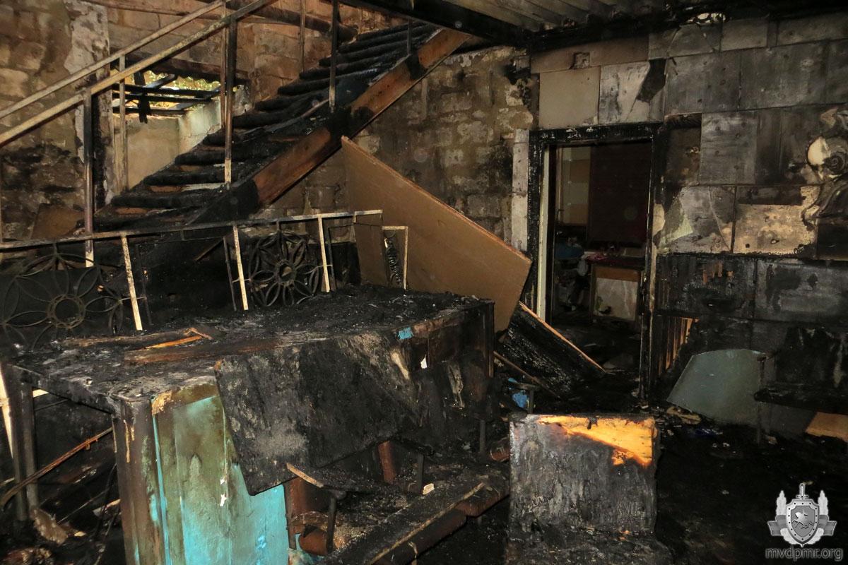 Пожар в Рыбнице: загорелось помещение в Доме быта