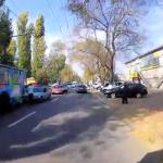 В столице случилось ДТП с участием троллейбуса (ВИДЕО)