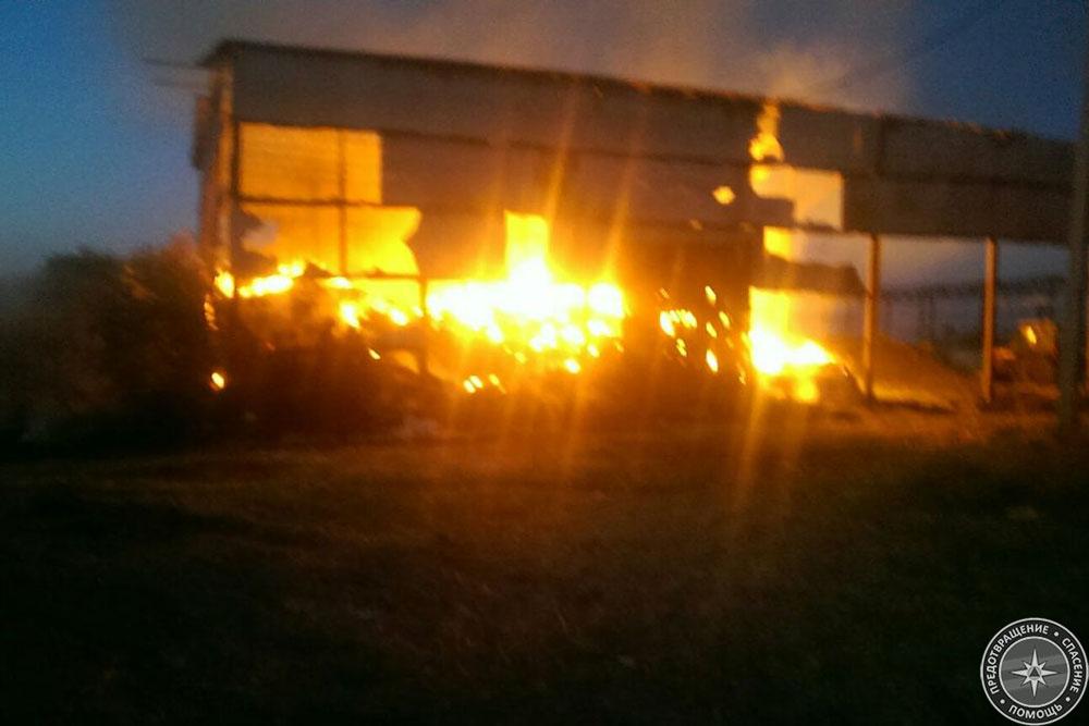 В Рыбнице пожарные несколько часов тушили сенохранилище (ФОТО)