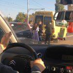 ДТП на Телецентре: столкнулись микроавтобус и легковушка (ФОТО)