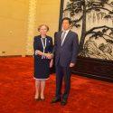 Гречаный поздравила своего коллегу и весь народ Китая с 70-летием провозглашения КНР