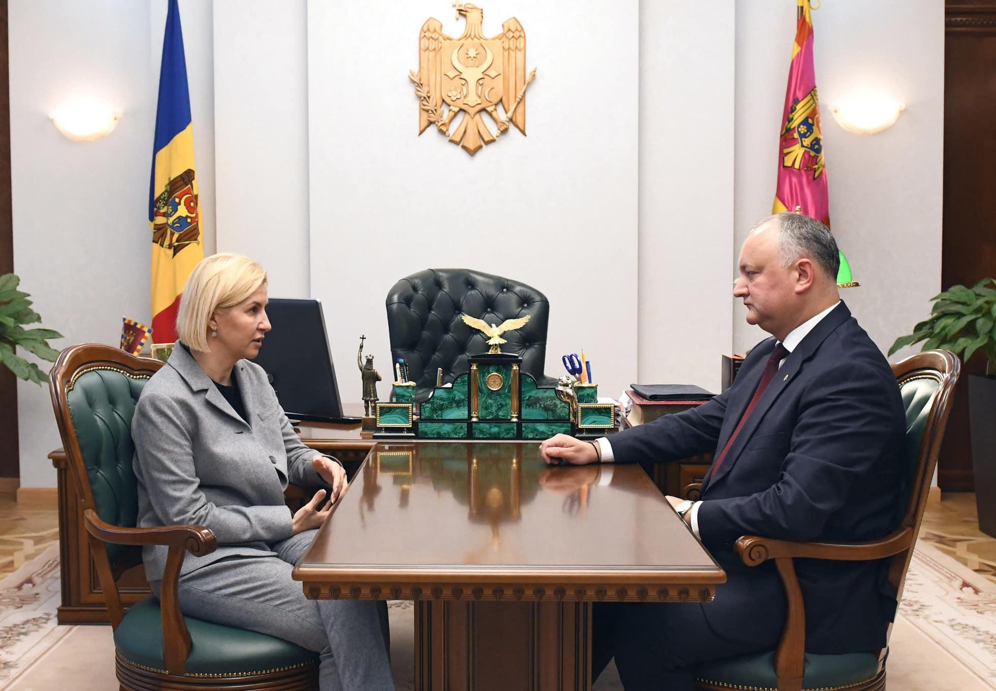 Игорь Додон провел встречу с Ириной Влах (ФОТО, ВИДЕО)