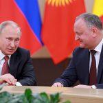 Додон поздравил Путина с днем рождения