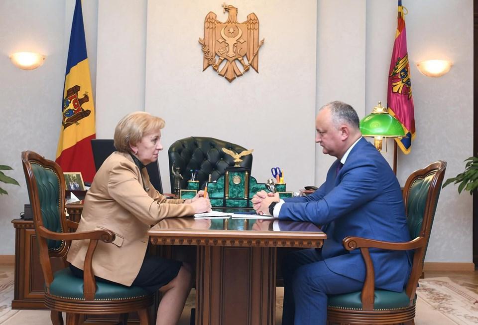 Игорь Додон провел встречу с Зинаидой Гречаный (ФОТО, ВИДЕО)
