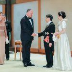 Игорь и Галина Додон приняли участие в церемонии интронизации Императора Японии Нарухито (ФОТО)