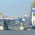 Серьёзная авария в Ставченах: легковушка врезалась в троллейбус (ФОТО)