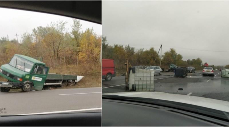 """На трассе """"Кишинёв-Унгены"""" перевернулся грузовик (ФОТО)"""
