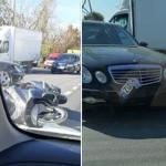 В столице произошло ДТП с участием мотоцикла (ФОТО)