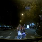 В шаге от трагедии: наглый водитель едва не сбил женщину с четырьмя детьми в столице (ВИДЕО)