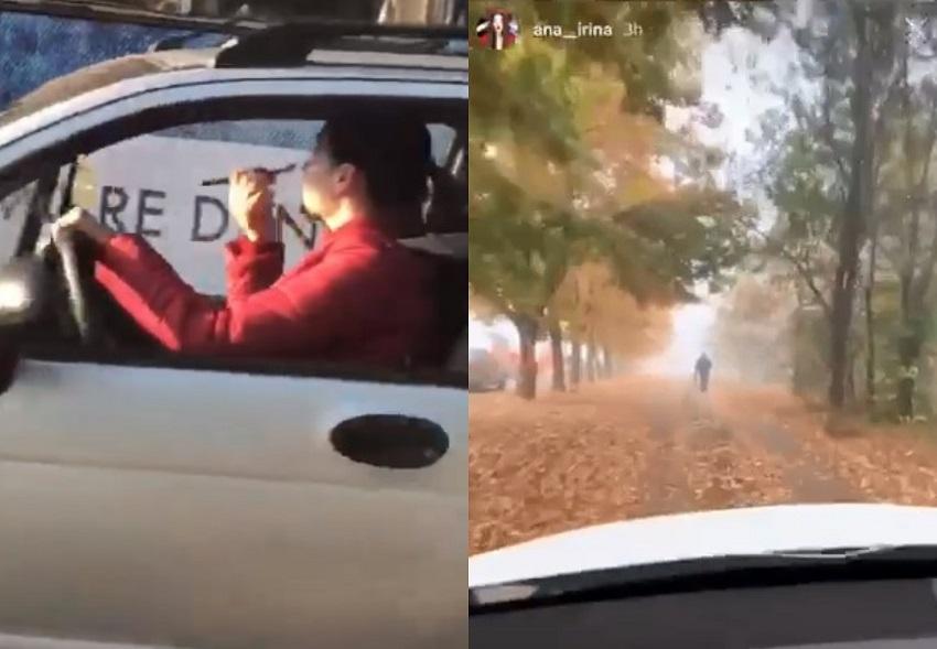 Одна красилась за рулём, вторая ехала по тротуару: на видео попали безответственные водители