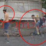 Украли у ребёнка велосипед: столичная полиция просит помощи граждан в поиске злоумышленников (ВИДЕО)