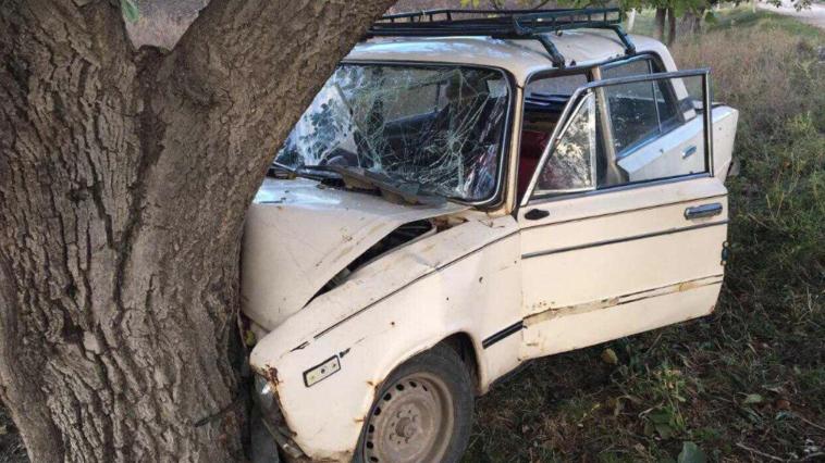 В Фалештском районе ВАЗ врезался в дерево: два человека доставлены в больницу