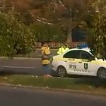 На Ботанике патрульные оштрафовали переходившую дорогу в неположенном месте женщину