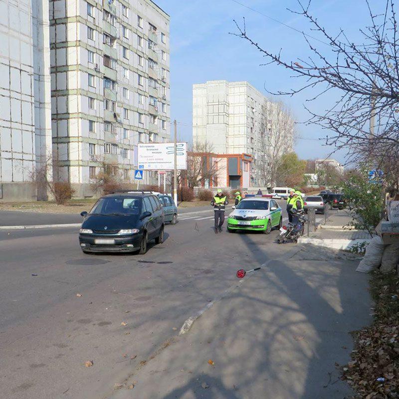 Пожилой мопедист пострадал в ДТП в Рыбнице