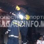 В Комрате из-за короткого замыкания сгорел гараж (ФОТО)