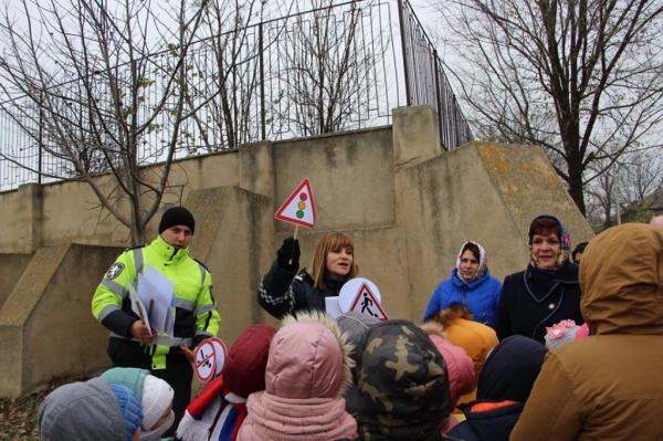 Маленьким жителям Чадыр-Лунги напомнили о важности соблюдения ПДД (ФОТО)