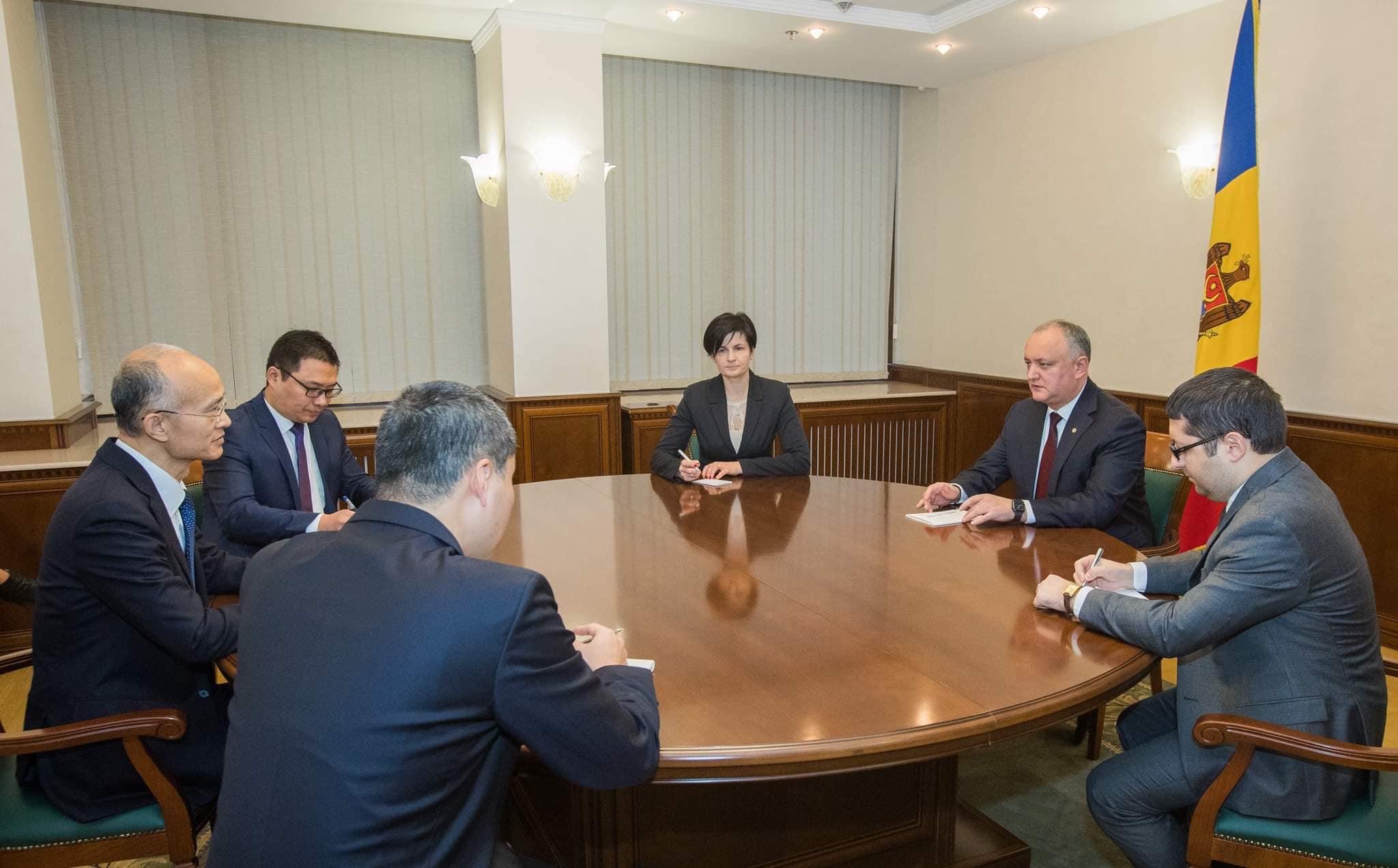 Президент пригласил партнеров из КНР принять активное участие в реализации крупных инфраструктурных проектов в Молдове (ФОТО, ВИДЕО)