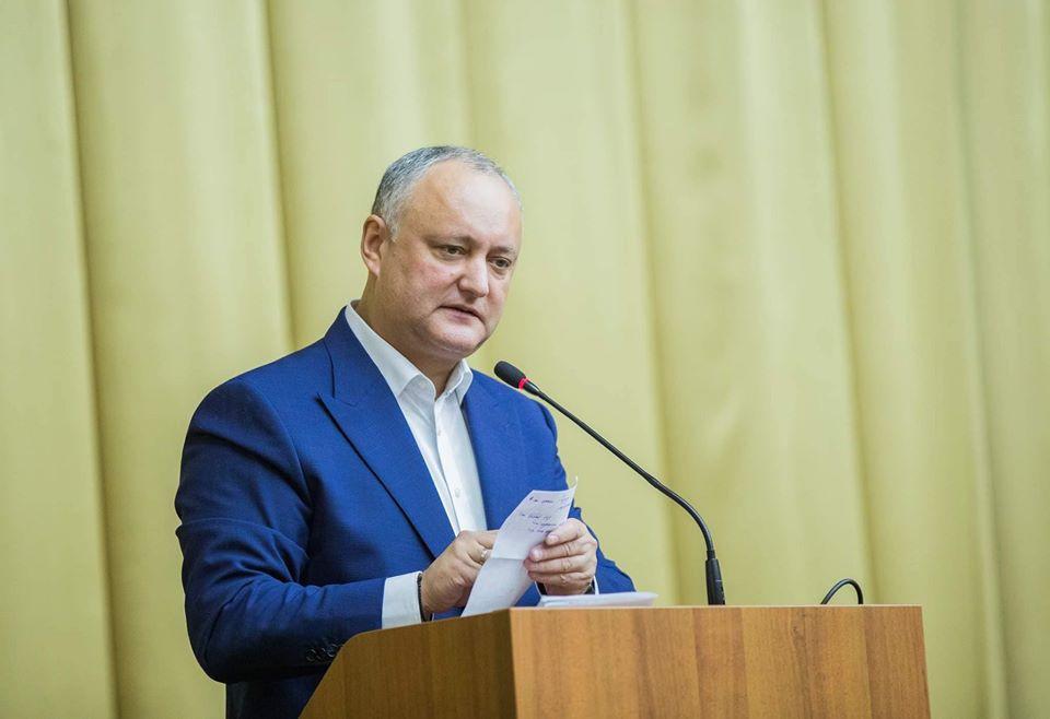 Igor Dodon: This week Moldova entered a fundamentally new period of development