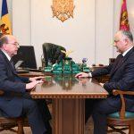 Додон обсудил актуальные вопросы двусторонних отношений с послом России в РМ (ФОТО, ВИДЕО)
