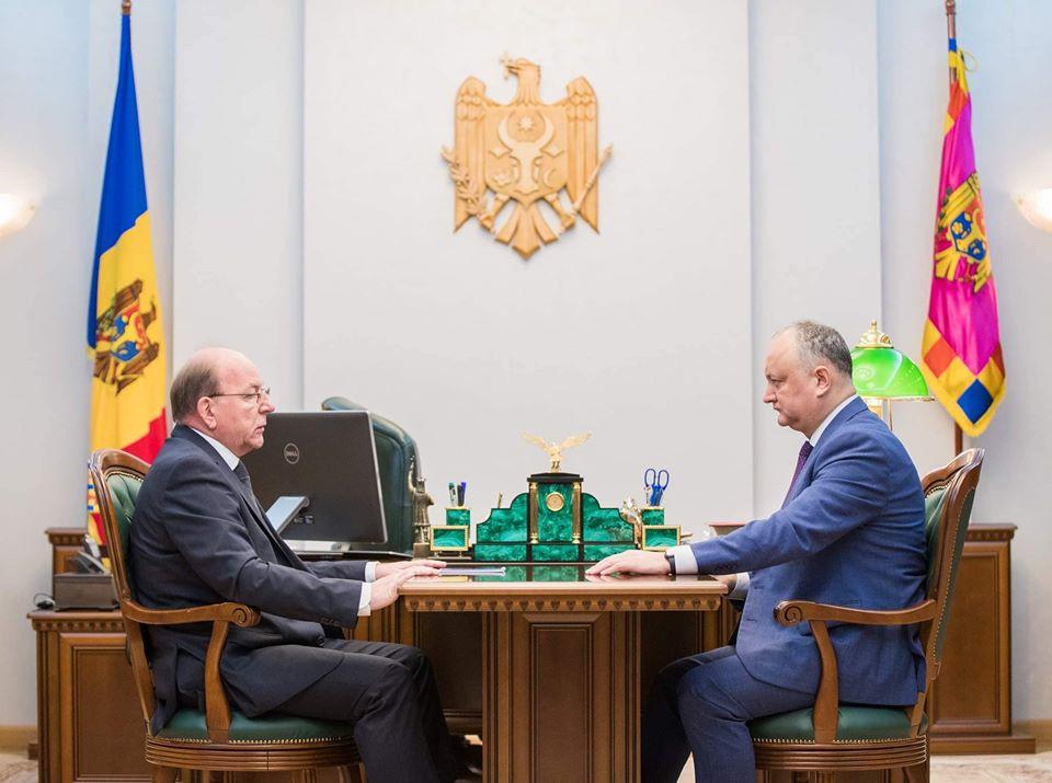 Додон обсудил с послом России предстоящий визит Кику в Москву (ФОТО, ВИДЕО)