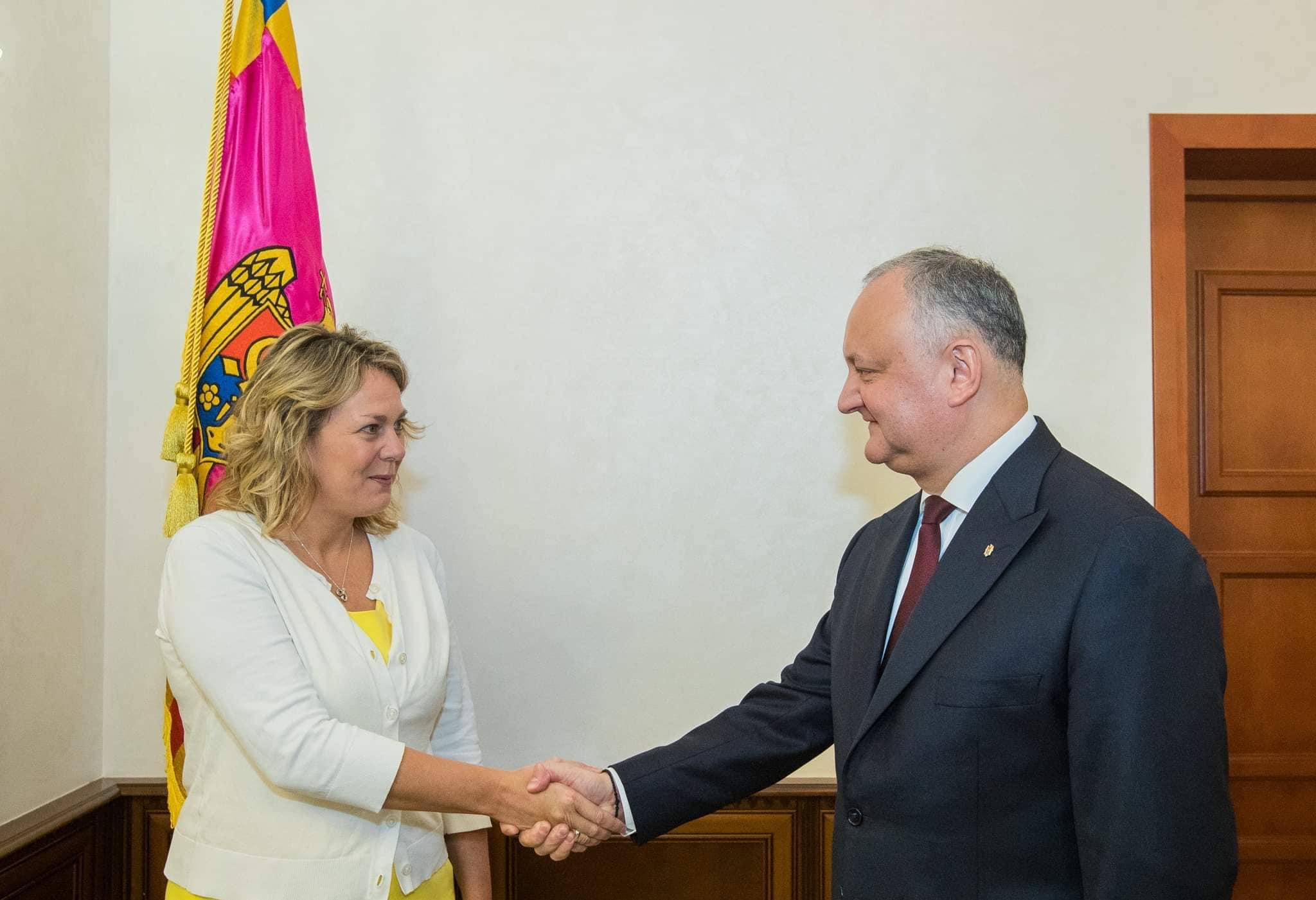 Президент провел встречу с новой главой миссии Международного республиканского института США в РМ (ФОТО, ВИДЕО)