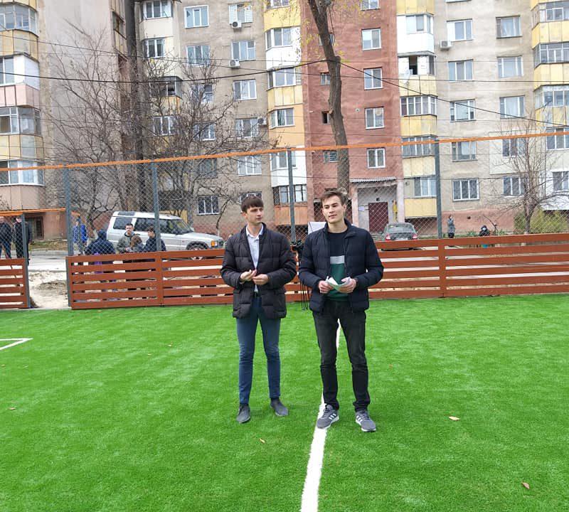 Стараниями социалистов в секторе Ботаника открыт ещё один новый стадион (ФОТО)
