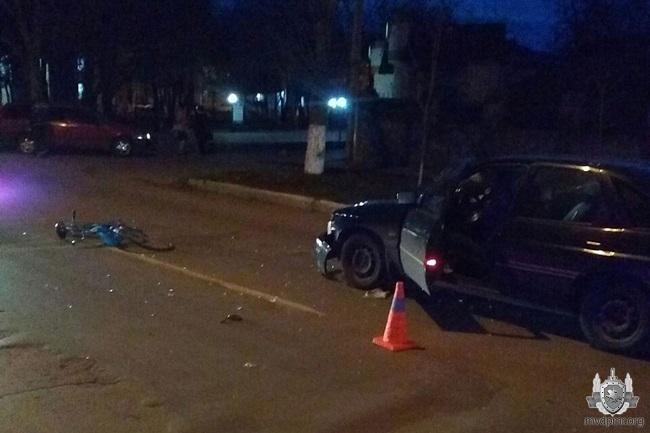 В Каменке нетрезвая велосипедистка попала под колёса автомобиля (ФОТО)