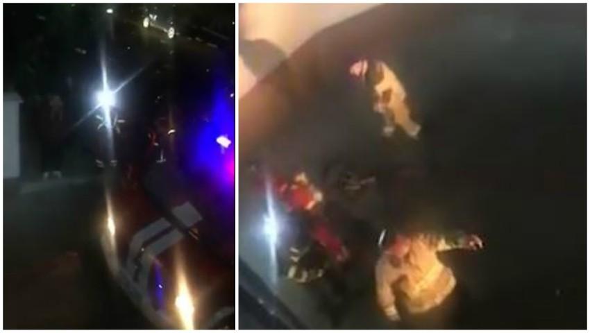 На одной из столичных подземных парковок взорвался огнетушитель (ВИДЕО)
