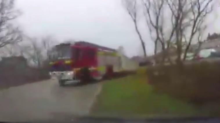 В Яловенах пожарная машина попала в ДТП
