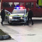 В столице в аварию угодила машина полиции (ФОТО)