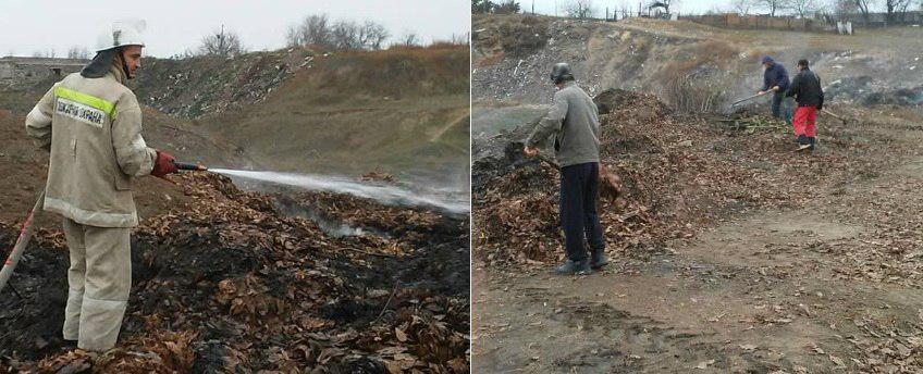 На окраине села в Слободзейском районе второй день горит свалка