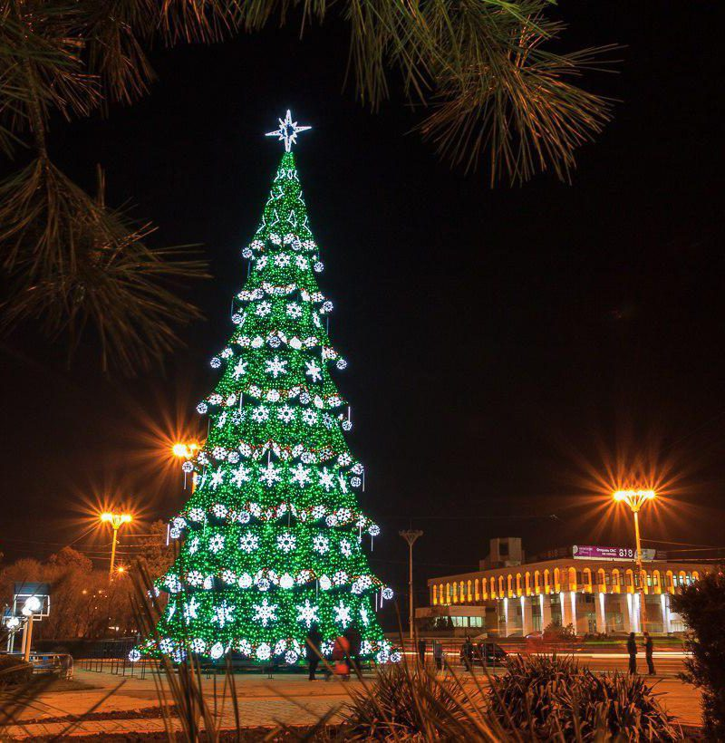 В Тирасполе во вторник начнут устанавливать новогоднюю елку