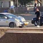 Ещё одна авария с участием машины такси произошла в центре столицы