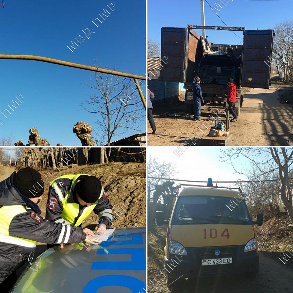 В Слободзее водитель большегруза повредил газопровод и скрылся