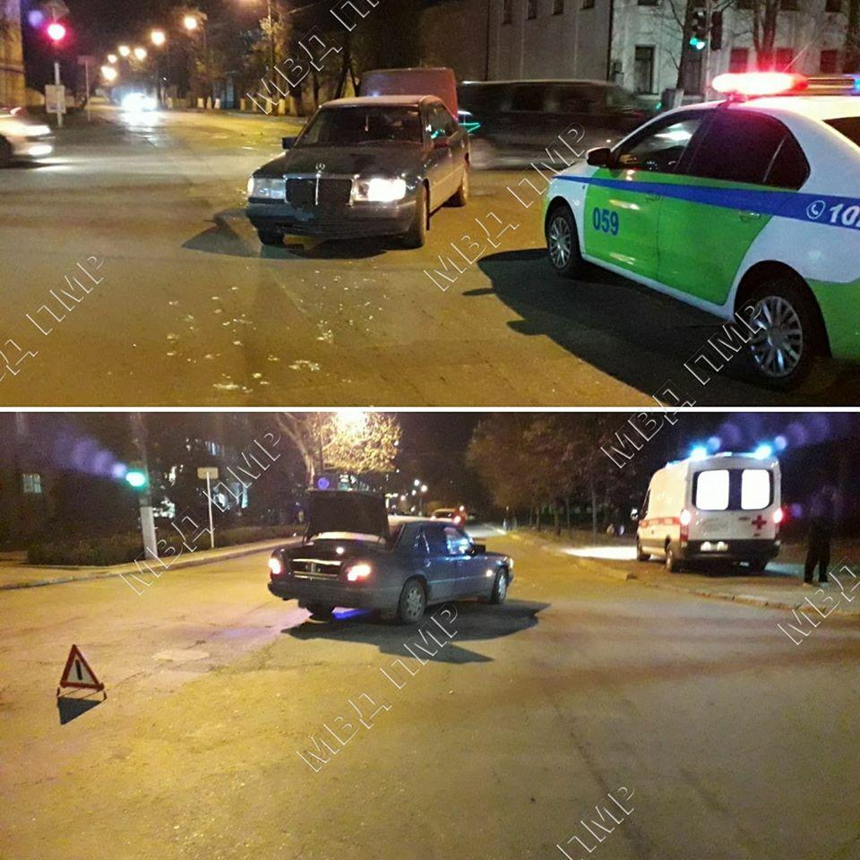 Девушка угодила под колеса автомобиля в Тирасполе (ФОТО)