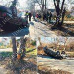 Не заметил препятствие: в результате ДТП в Бендерах автомобиль перевернулся на крышу