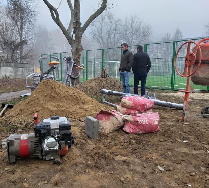 Стараниями социалистов на Ботанике появится еще одна новая спортивная площадка (ФОТО)