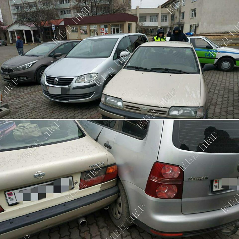 Не заметил авто, сдавая назад: в Дубоссарах произошло незначительное ДТП