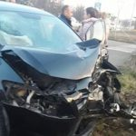 Жуткое ДТП в Теленештах: машина врезалась в столб (ФОТО, ВИДЕО)