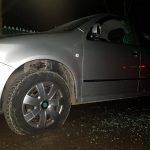 В Яловенах неизвестные повредили припаркованное авто (ФОТО)