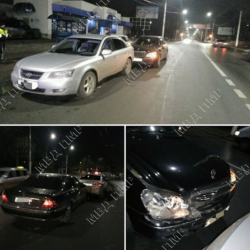 В Тирасполе зазевавшийся водитель спровоцировал ДТП