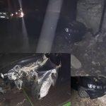 В столице двое угнали и разбили чужой автомобиль (ВИДЕО)