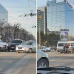 В центре столицы случилось серьёзное ДТП с участием маршрутки: на место происшествия прибыла «скорая»
